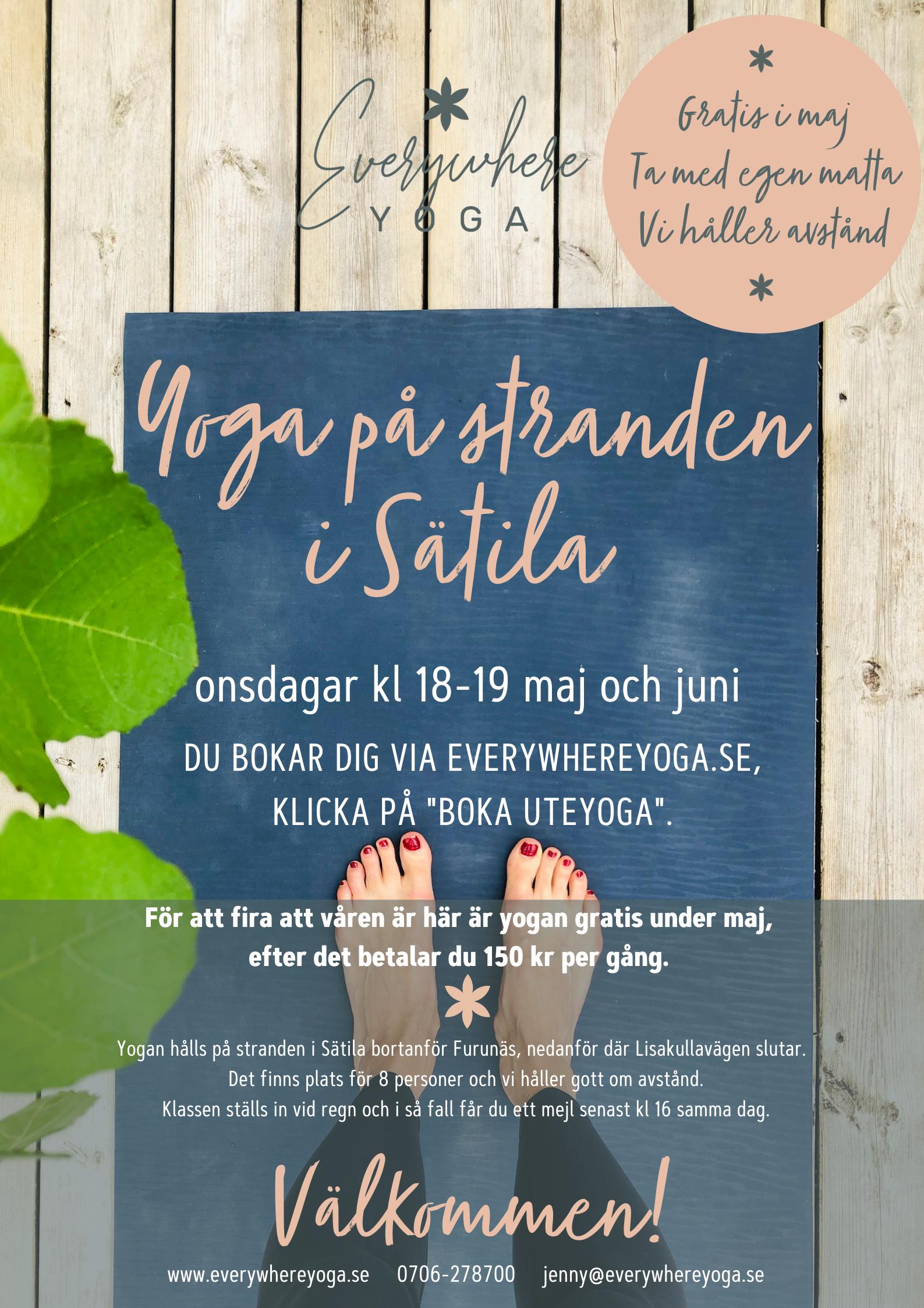 yoga utomhus i mark